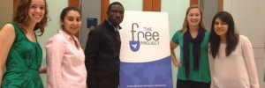 The Free Project chapter at GWU with James Kofi Annan