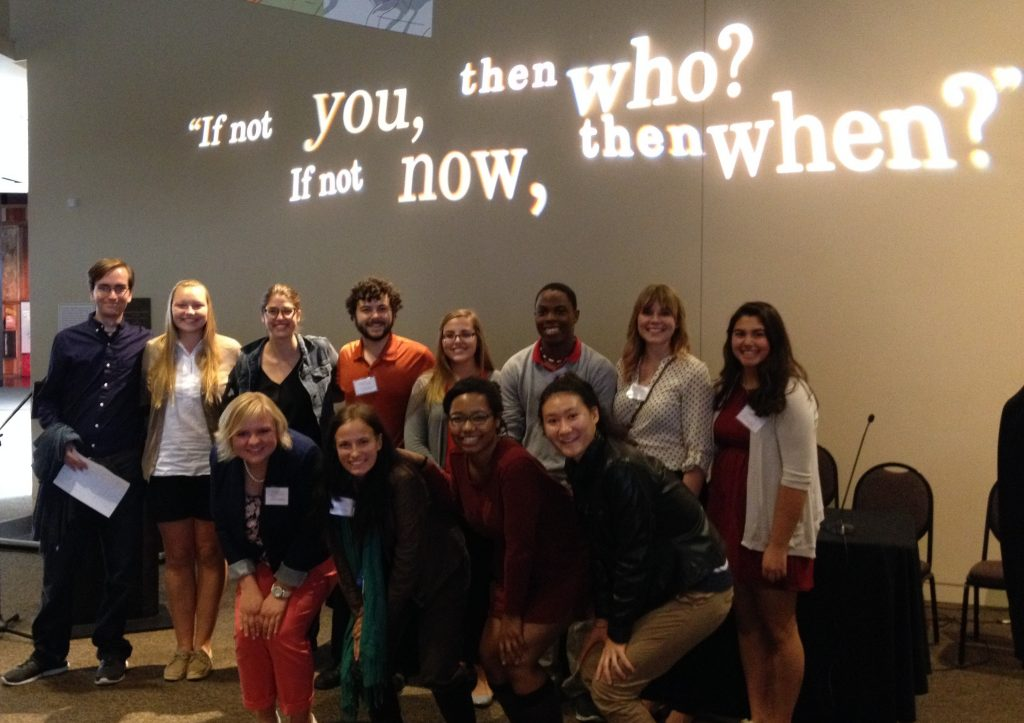 Students from Adrian College and Gettysburg College at Underground Railroad Freedom Center